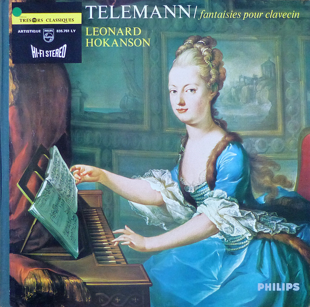 Hokanson: Telemann Fantasies for Harpsichord - Philips 835.751 LY