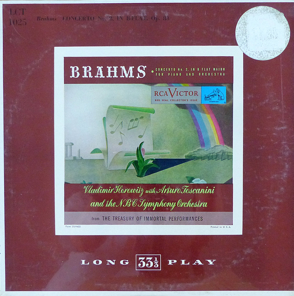 Horowitz/Toscanini: Brahms Piano Concerto No. 2 - RCA LCT 1025 (sealed)