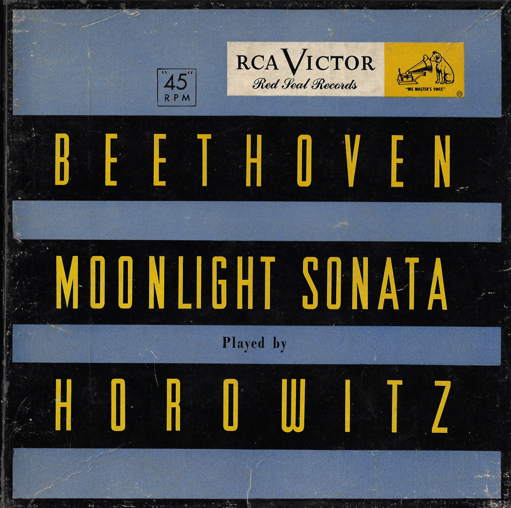 "Horowitz: Beethoven ""Moonlight"" Sonata - RCA WDM 1115 (7"" 45 rpm X 2)"