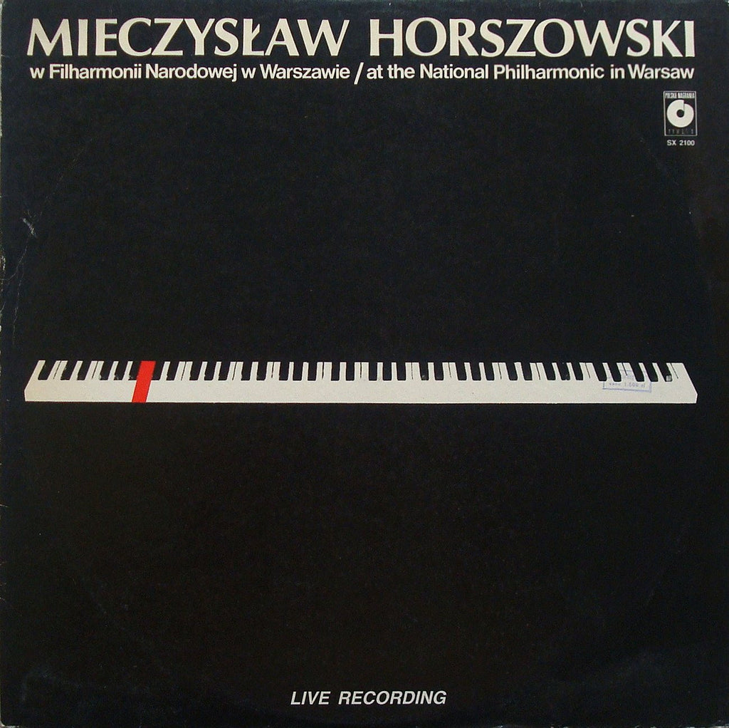 "LP - Horszowski: ""live"" At The National Philharmonic In Warsaw (1984) - Muza SX 2100"