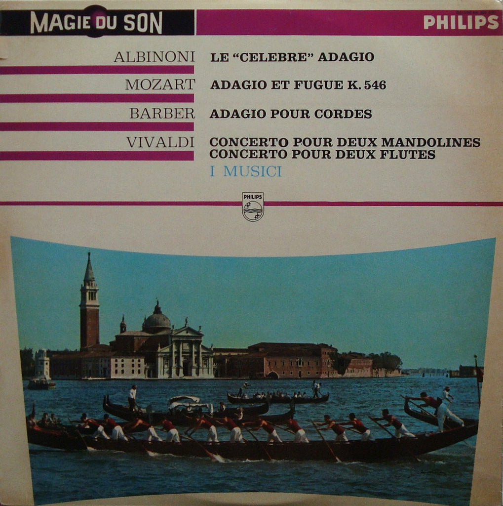 LP - I Musici: Works By Vivaldi, Barber, Mozart, Albinoni - Philips 641.903 DSL