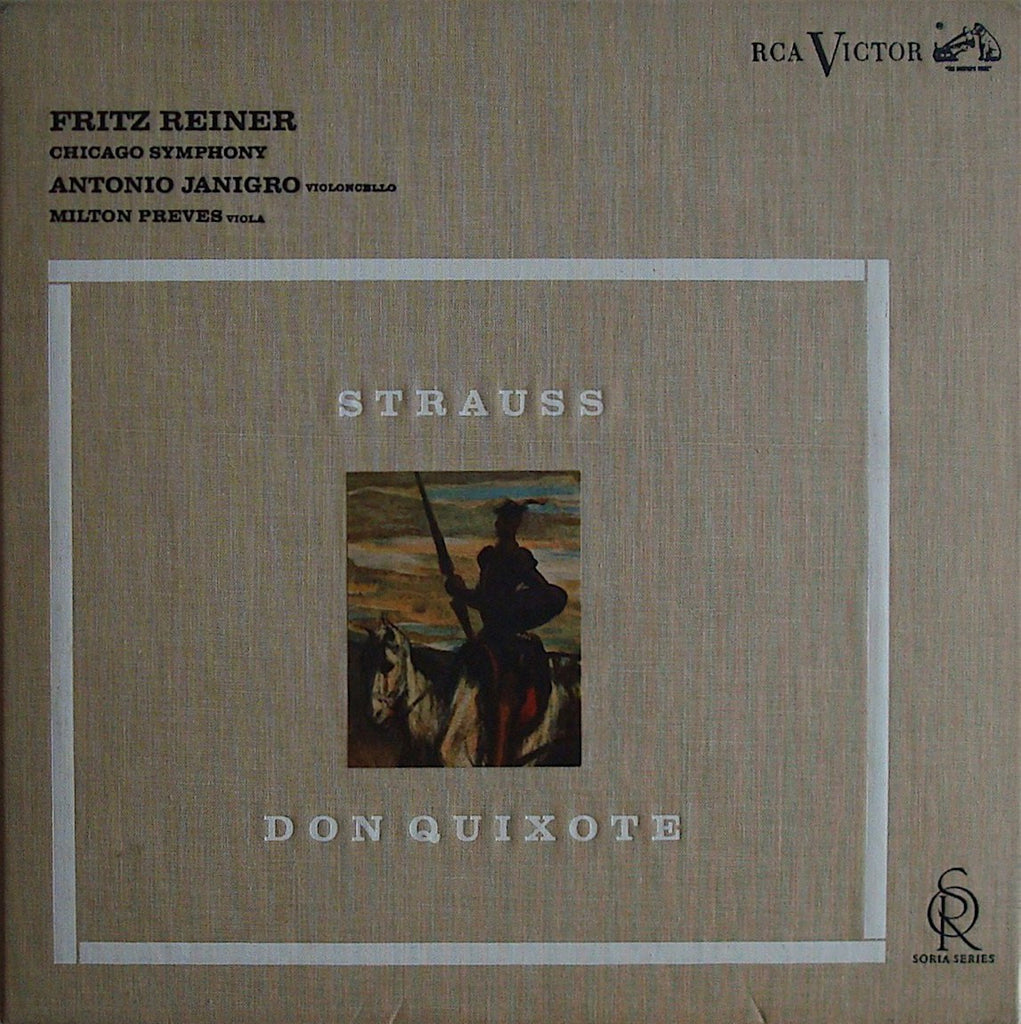 LP - Janigro: Don Quixote (with Dali Prints) - RCA Soria LD-2384 (1S/1S)