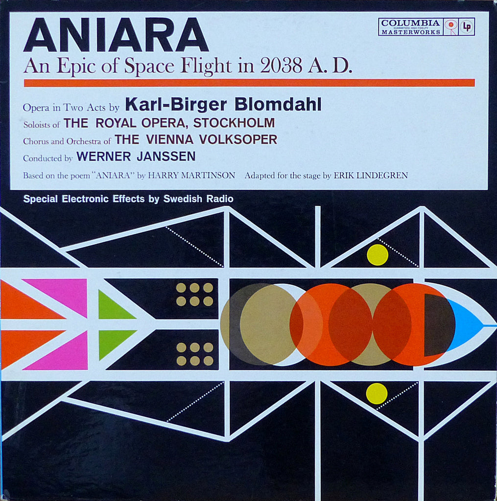 Janssen: Blomdahl Aniara (Epic of Space Flight) - Columbia M2L 405 (2LP set)