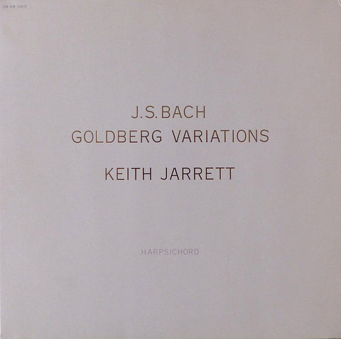 Jarrett: Bach Goldberg Variations BWV 988 - ECM 1395