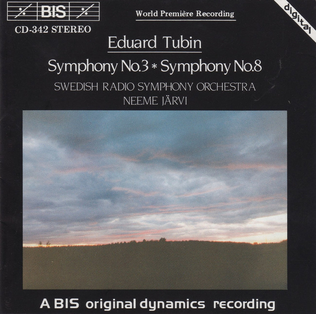 CD - Jarvi/Swedish RSO: Tubin Symphonies Nos. 3 & 8 - BIS CD-342 (DDD)