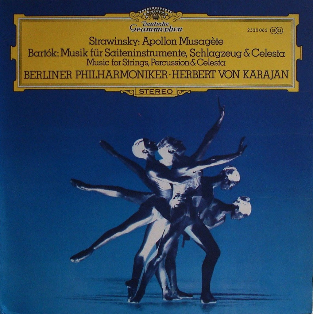 LP - Karajan: Stravinsky Apollon Musagète + Bartok Music For String, P & C - DG 2530 065