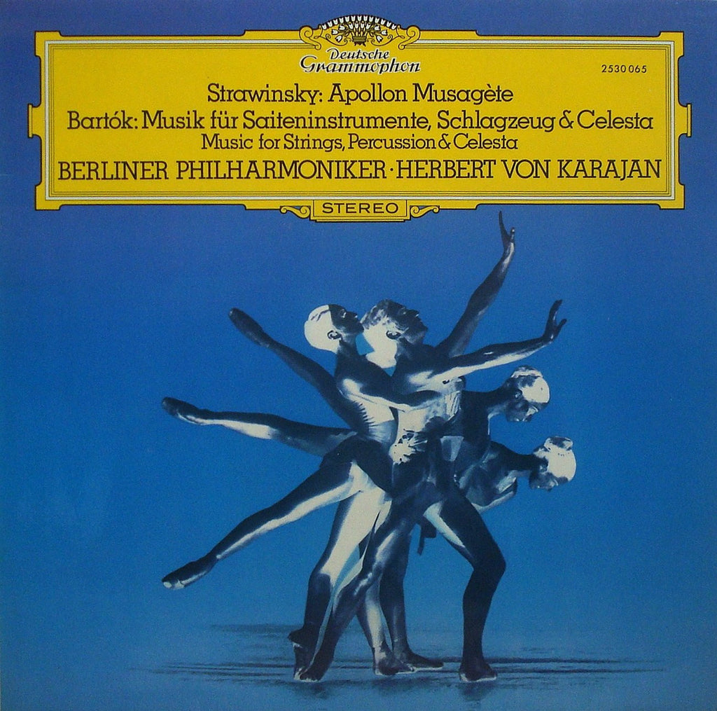 LP - Karajan: Stravinsky Apollon Musagète + Bartok Music For SPC - DG 2530 065