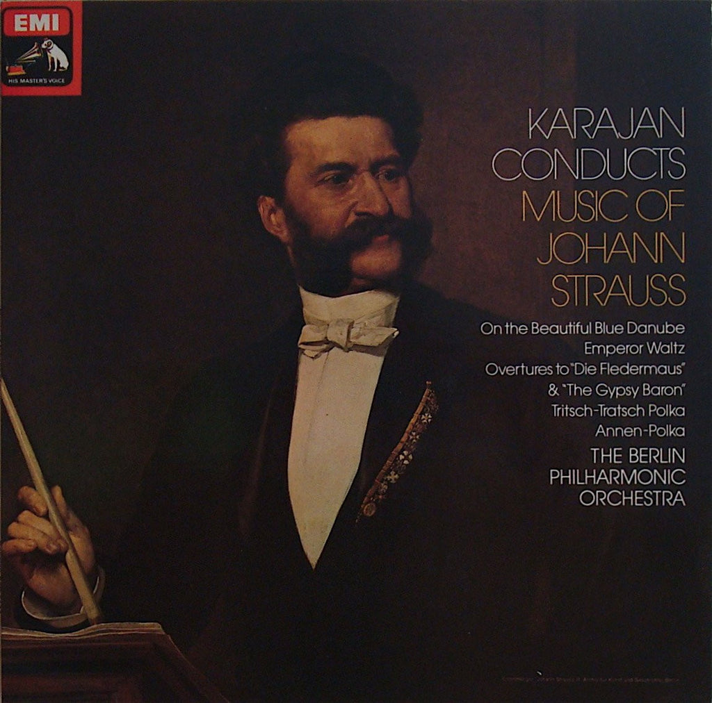 LP - Karajan/BPO: Music Of Johann Strauss - EMI ASD 3132