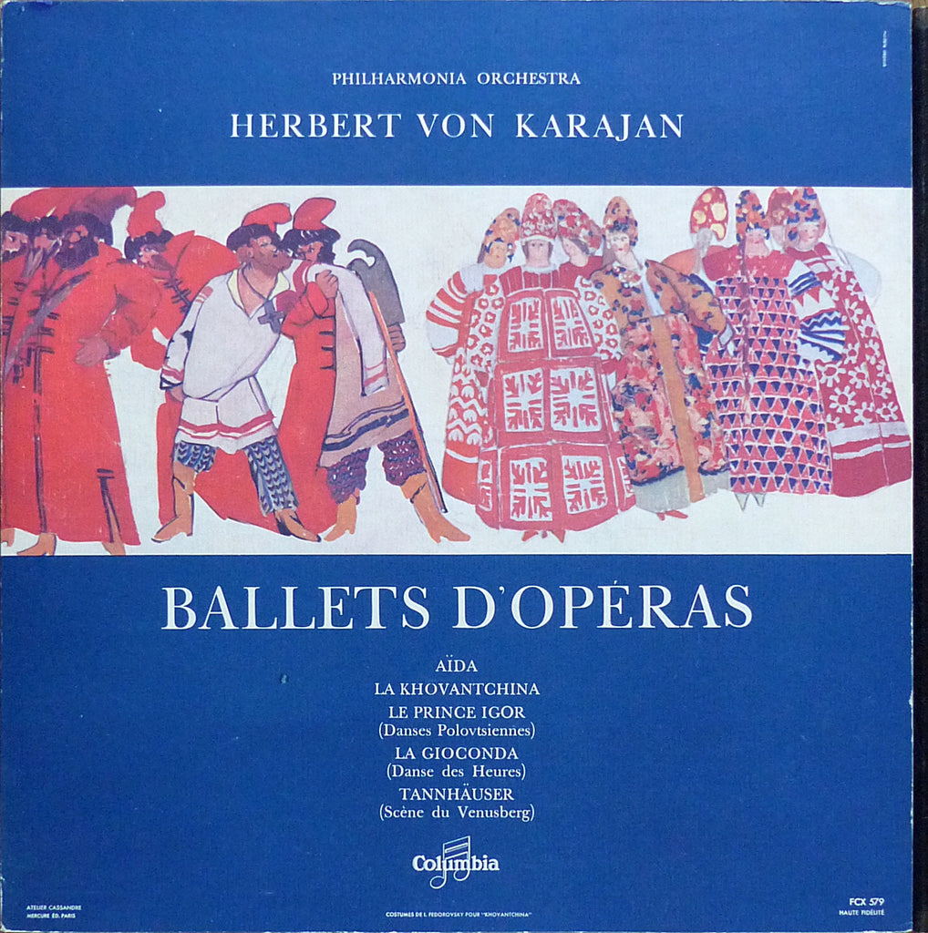 Karajan: Ballet music from the opera - Columbia FCX 579