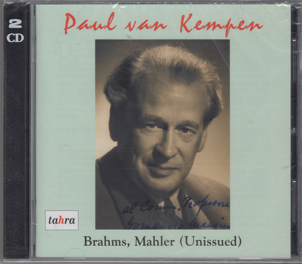 CD - Kempen: Mahler 1st + Brahms Op. 83 (with Kempff), Etc. - Tahra TAH 714-715 (2CD Set) (sealed)