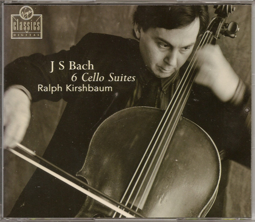 CD - Kirshbaum: Bach 6 Suites For Solo Cello - Virgin Classics 7243 5 45086 2 2 (DDD, 2CD Set)