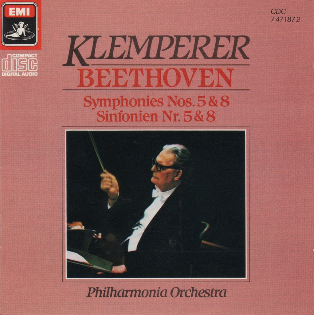 CD - Klemperer/Philharmonia: Beethoven Symphonies Nos. 5 & 8 - EMI CDC 7 47187 2