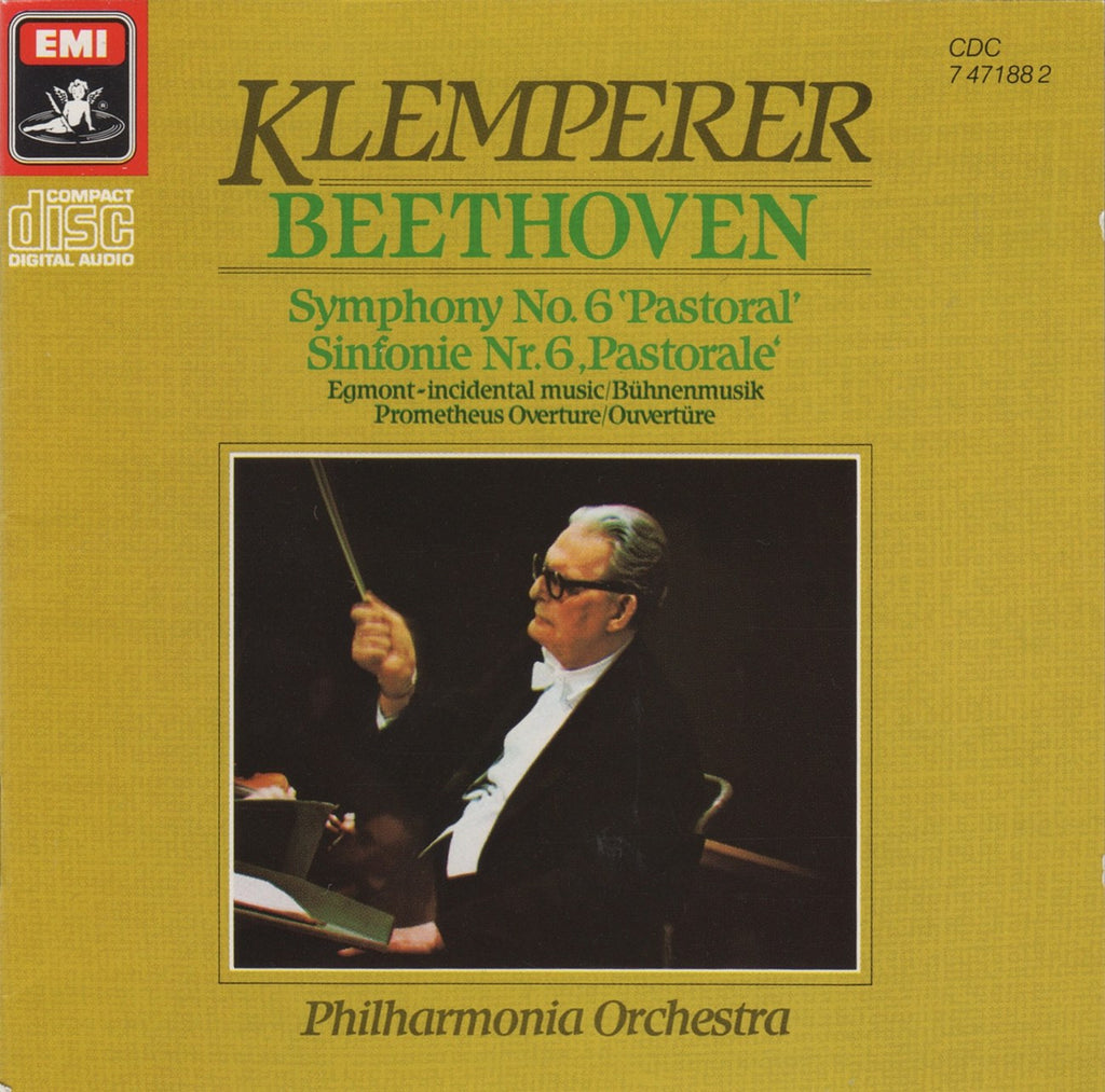 "CD - Klemperer: Beethoven Symphony No. 6 ""Pastorale"" + Music To Egmont - EMI CDC 7 47188 2"