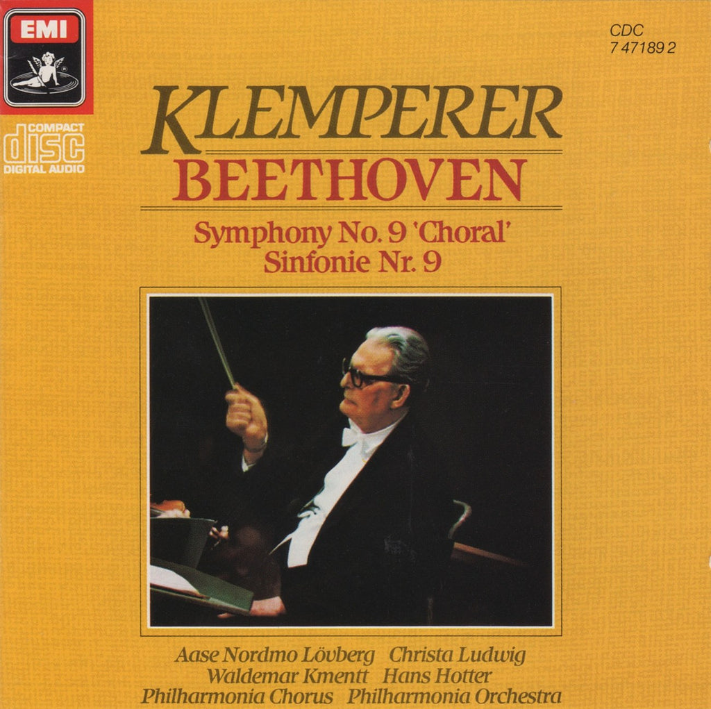 "CD - Klemperer/Philharmonia: Beethoven Symphony No. 9 ""Choral"" - EMI CDC 7 47189 2"