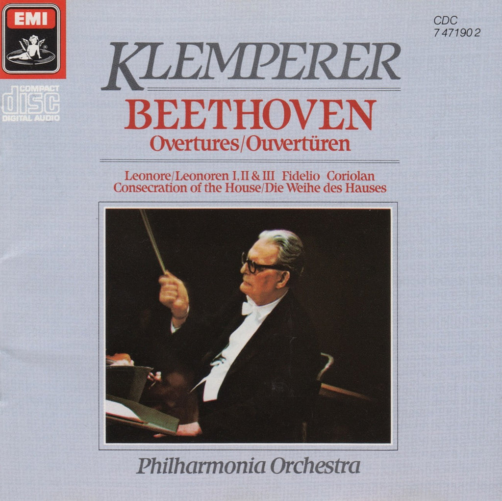 CD - Klemperer/Philharmonia: Beethoven Overtures - EMI CDC 7 47190 2