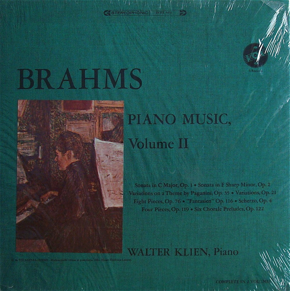 LP - Klien: Brahms Piano Music Volume II - Vox SVBX 5431 (3LP Box, Sealed)