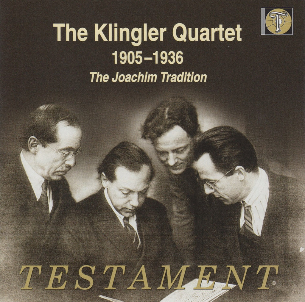 CD - Klingler Quartet: Historic Recordings (Beethoven, Et Al.) - Testament SBT 2136 (2CD Set)