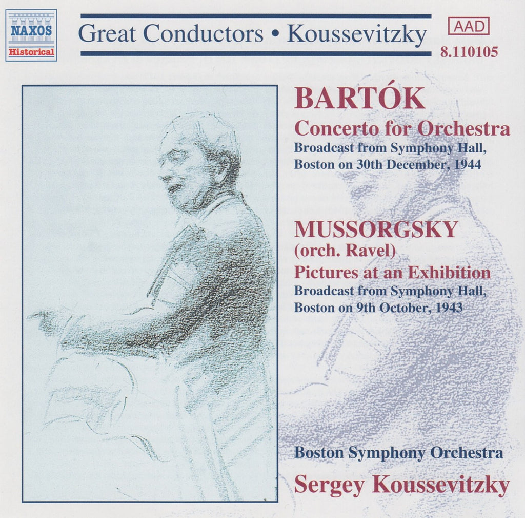 CD - Koussevitzky: Pictures At Exhibition / Bartok Concerto For Orchestra - Naxos 8.110105