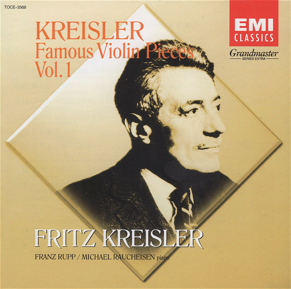 CD - Kreisler: Famous Violin Pieces Vol. 1 - EMI Japan TOCE-3568