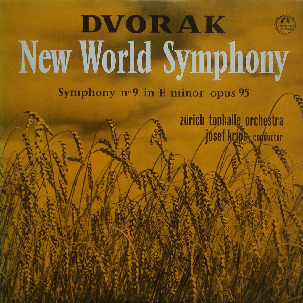 "LP - Krips: Dvorak ""New World"" Sym - Concert Hall M-2224 (Japanese Pr.), Lovely Copy"
