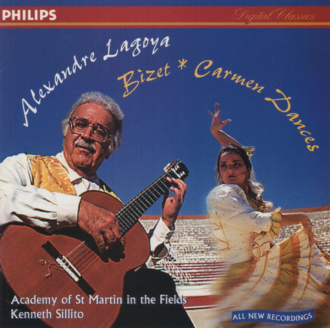CD - Alexandre Lagoya: Carmen Dances (arr. After Bizet) - Philips G2 46002 (DDD)