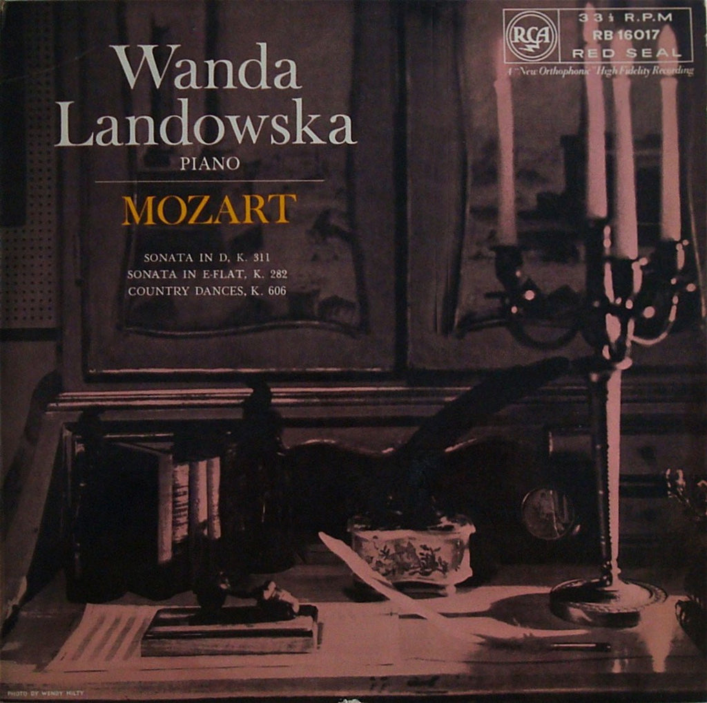 LP - Landowska: Mozart Piano Sonatas K. 282 & K. 311, Etc. - RCA RB 16017
