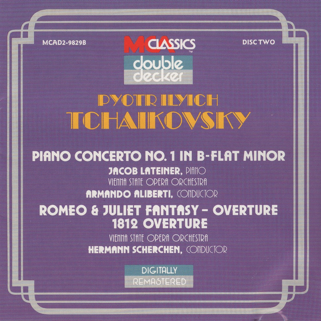 CD - Lateiner: Tchaikovsky Piano Concerto No. 1 Op. 23, Etc. - MCA Classics MCAD2-98298