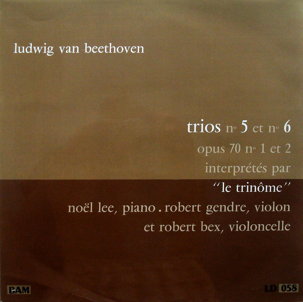 "LP - Le Trinome (Lee, Bex, Gendre): Beethoven ""Ghost Trio"", Etc. - BAM LD 058"