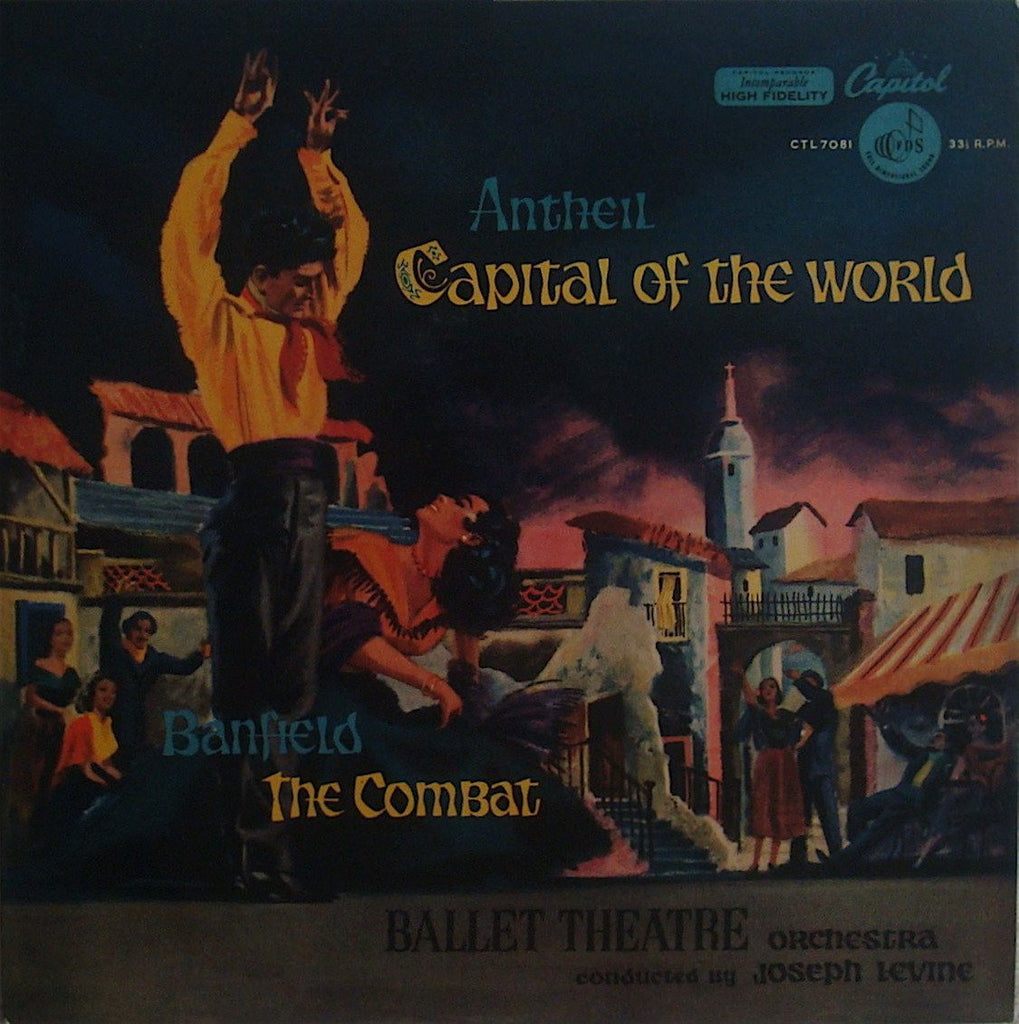 LP - Levine: Antheil Capitol Of The World + Banfield The Combat - Capitol CTL 7081