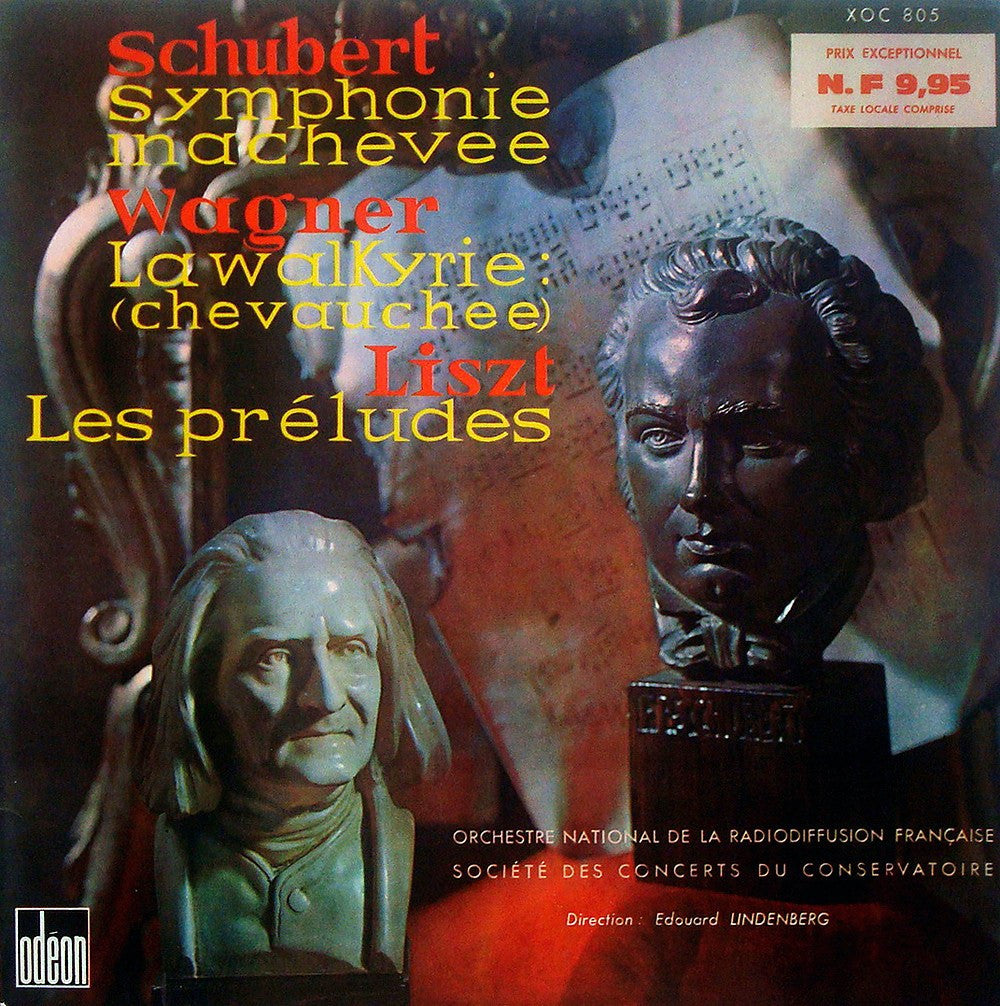 "LP - Lindenberg: Schubert ""Unfinished"" Symphony + Liszt Les Preludes & Wagner - Odeon XOC 805"