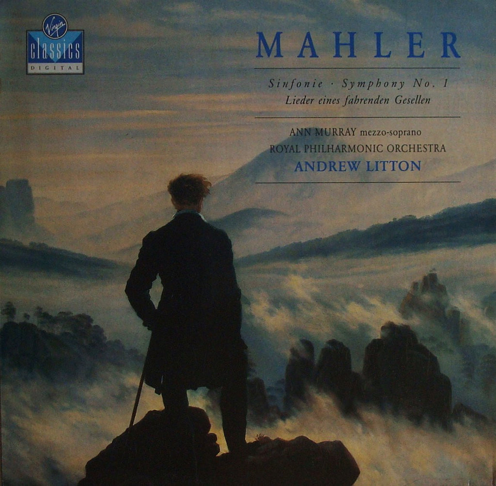 LP - Litton: Mahler Symphony No. 1, Etc. - Virgin VC 7 90703-1 (DDD) - Rare