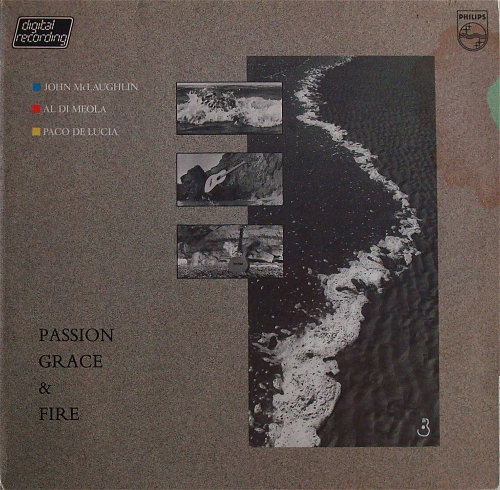 LP - McLaughlin/di Meola/de Lucia: Passion, Grace & Fire - Philips 811 334-1 (DDD)