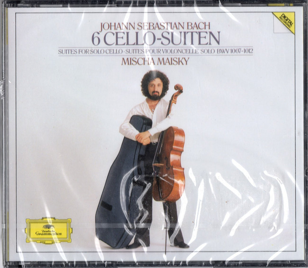 CD - Maisky: Bach 6 Suites For Solo Cello (DDD Recording) - DG 445 373-2 (2CD Set) (sealed)