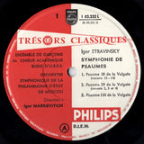 LP - Markevitch In Moscow: Symphony Of Psalms + Mussorgsky - Philips L 02.232 L
