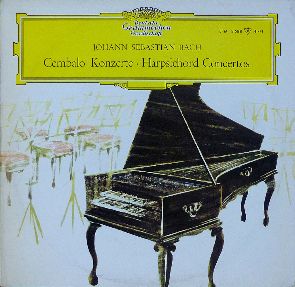 Marlowe: Bach Concertos for 2, 3 & 4 Harpsichords - DG LPM 18688