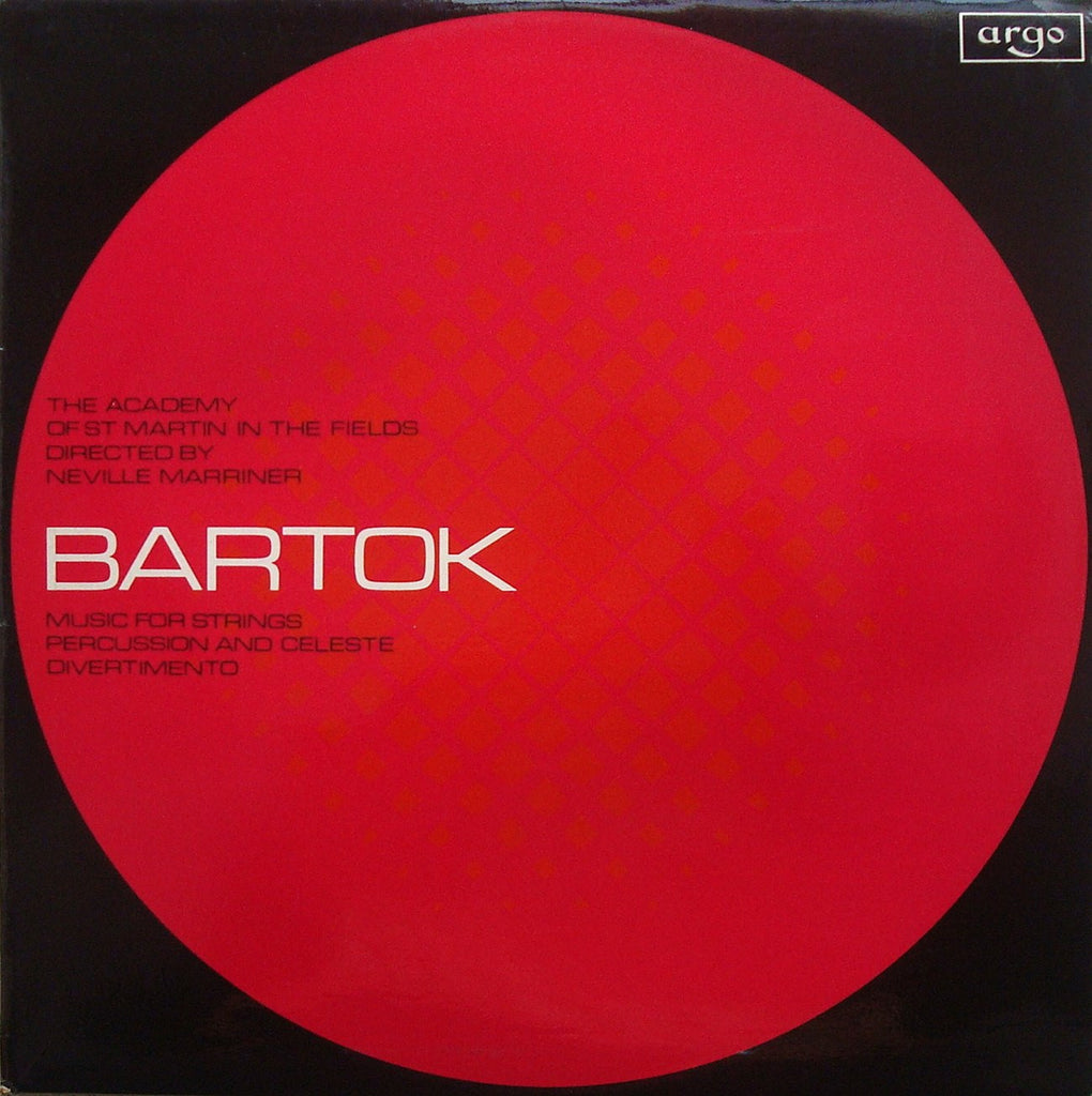 LP - Marriner: Bartok Music For Strings, Percussion & Celesta, Etc. - Argo ZRG 657