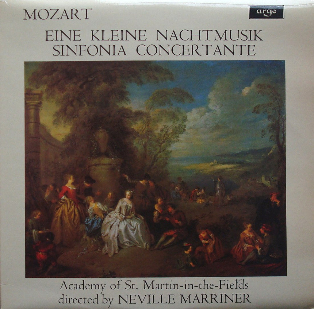 LP - Marriner: Mozart K. 525 + K. 364 (Loveday/Shingles) - Argo ZRG 769 - Superb Copy