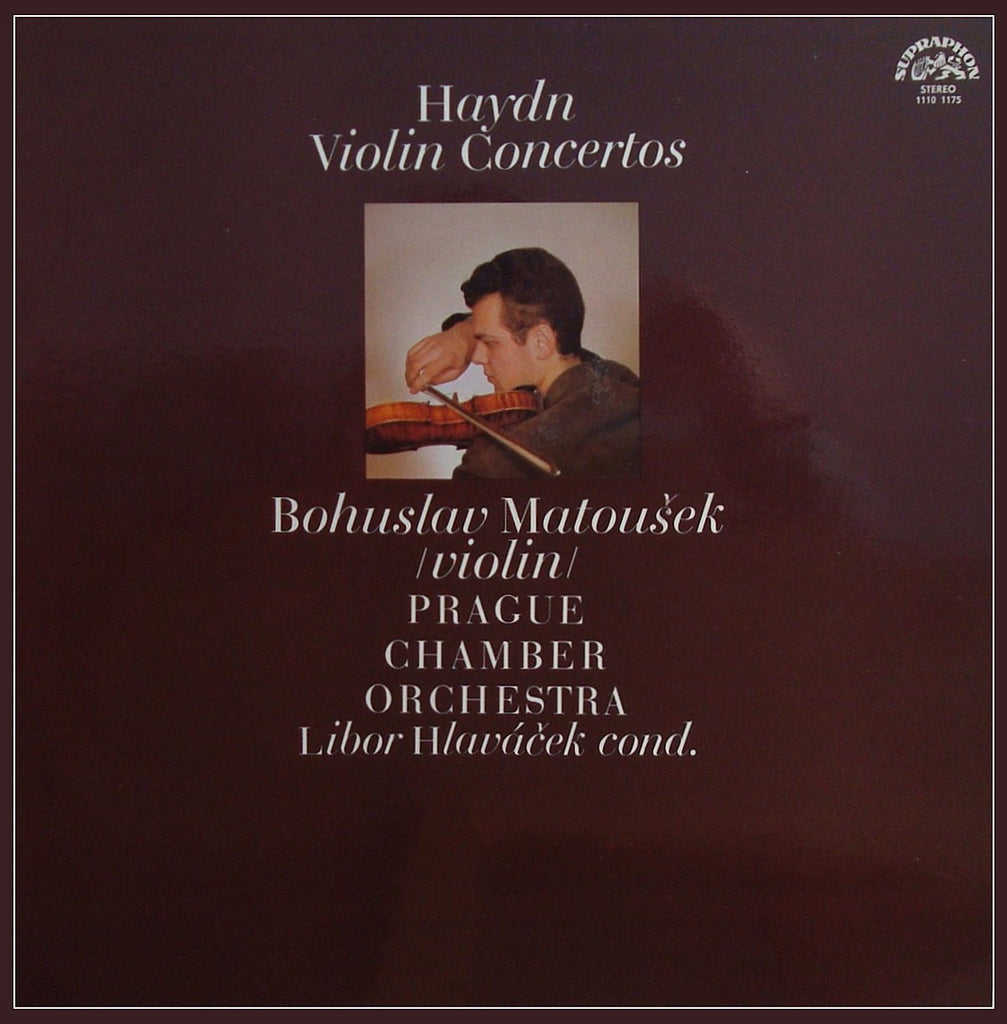 LP - Matousek: Haydn Violin Concertos In C And G Major - Supraphon 1110 1175 G, As New