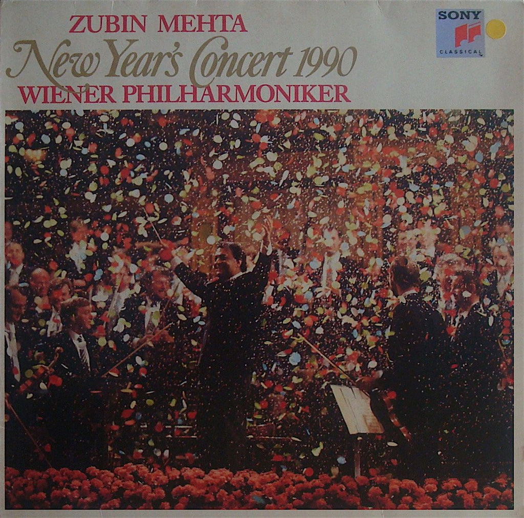 LP - Mehta/VPO: New Year's Concert 1990 - Sony Classical S 45808 (DDD)