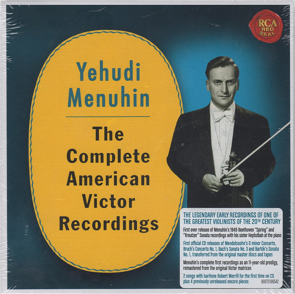 CD - Menuhin: Complete American Victor Recordings - RCA 88875198542 (6CD Set, Sealed)
