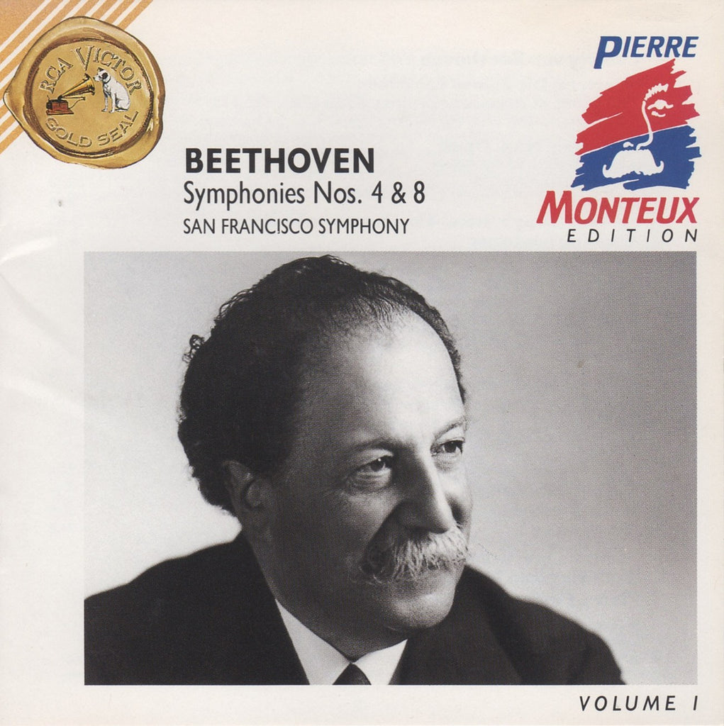 CD - Monteux/SFSO: Beethoven Symphonies Nos. 4 & 8 - RCA 09026 61892-2