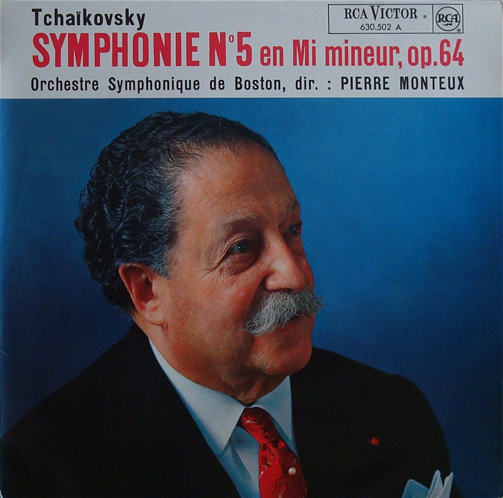 LP - Monteux/BSO: Tchaikovsky Symphony No. 5 Op. 64 - French RCA 630.502 A