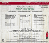 Mozart Edition Vol 8: Violin Concertos (Szeryng) - Philips 422 508-2 (4CD set)
