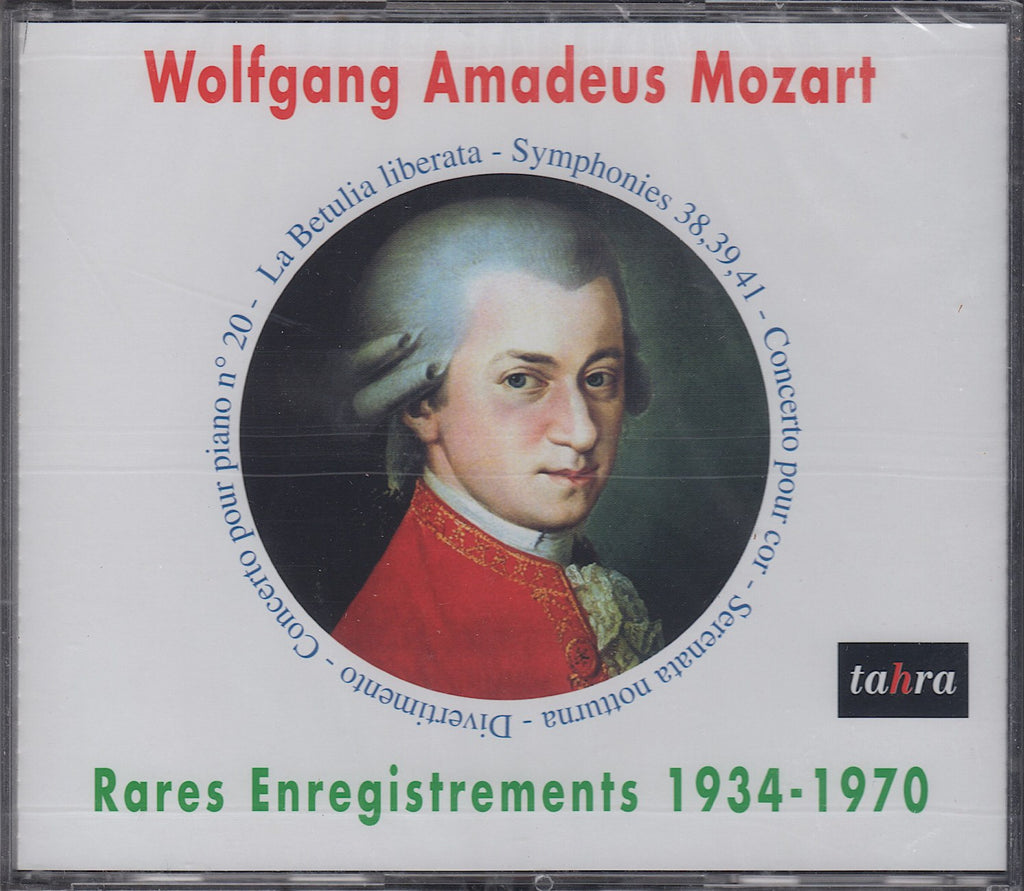 CD - Rare Mozart: Recs & Broadcasts 1934-1970 - Tahra TAH 595-598 (4CD Set, Sealed)