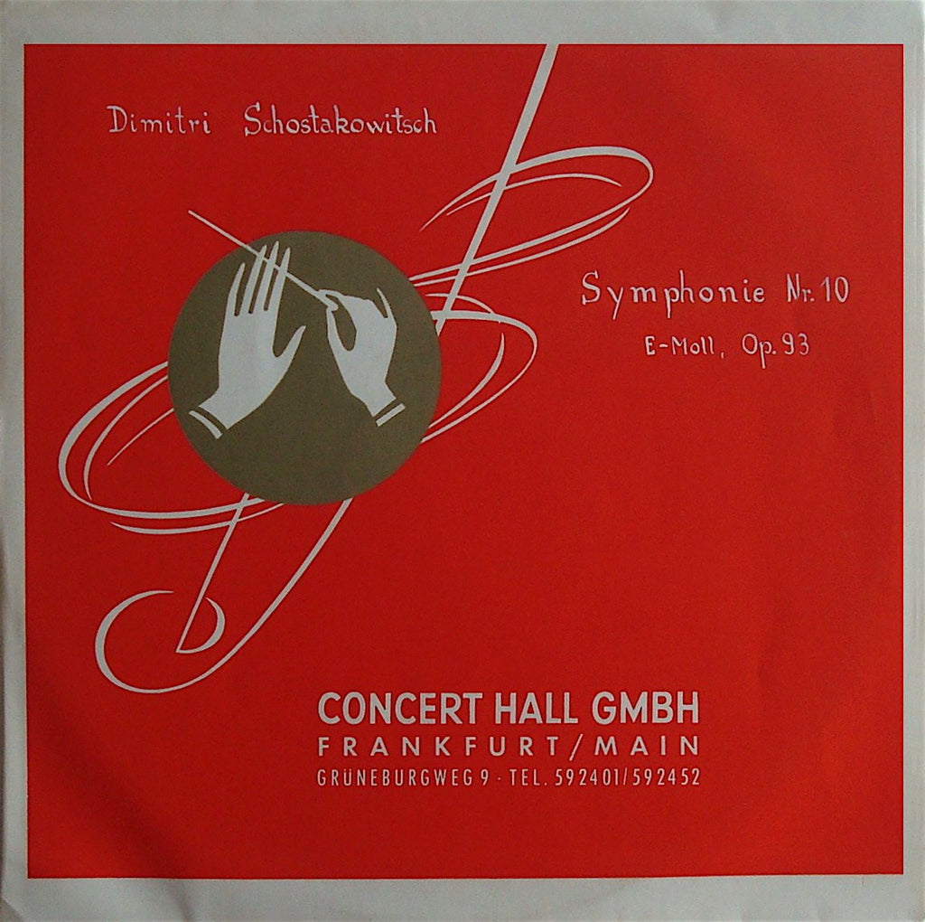 LP - Mravinsky: Shostakovich 10th - Concert Hall GMBH CHS-1313 (rare German Edition)