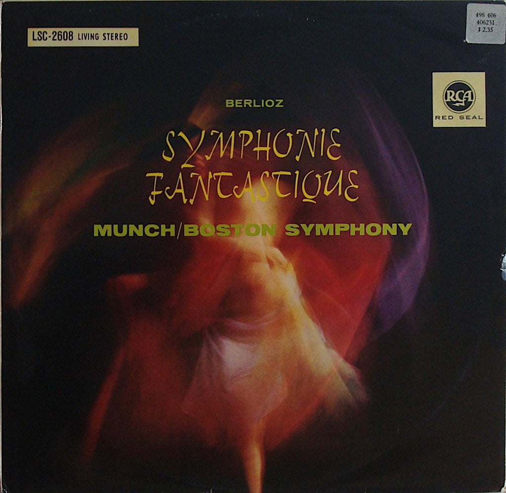 LP - Munch/BSO: Berlioz Symphonie Fantastique (r. 1954) - German RCA LSC-2608