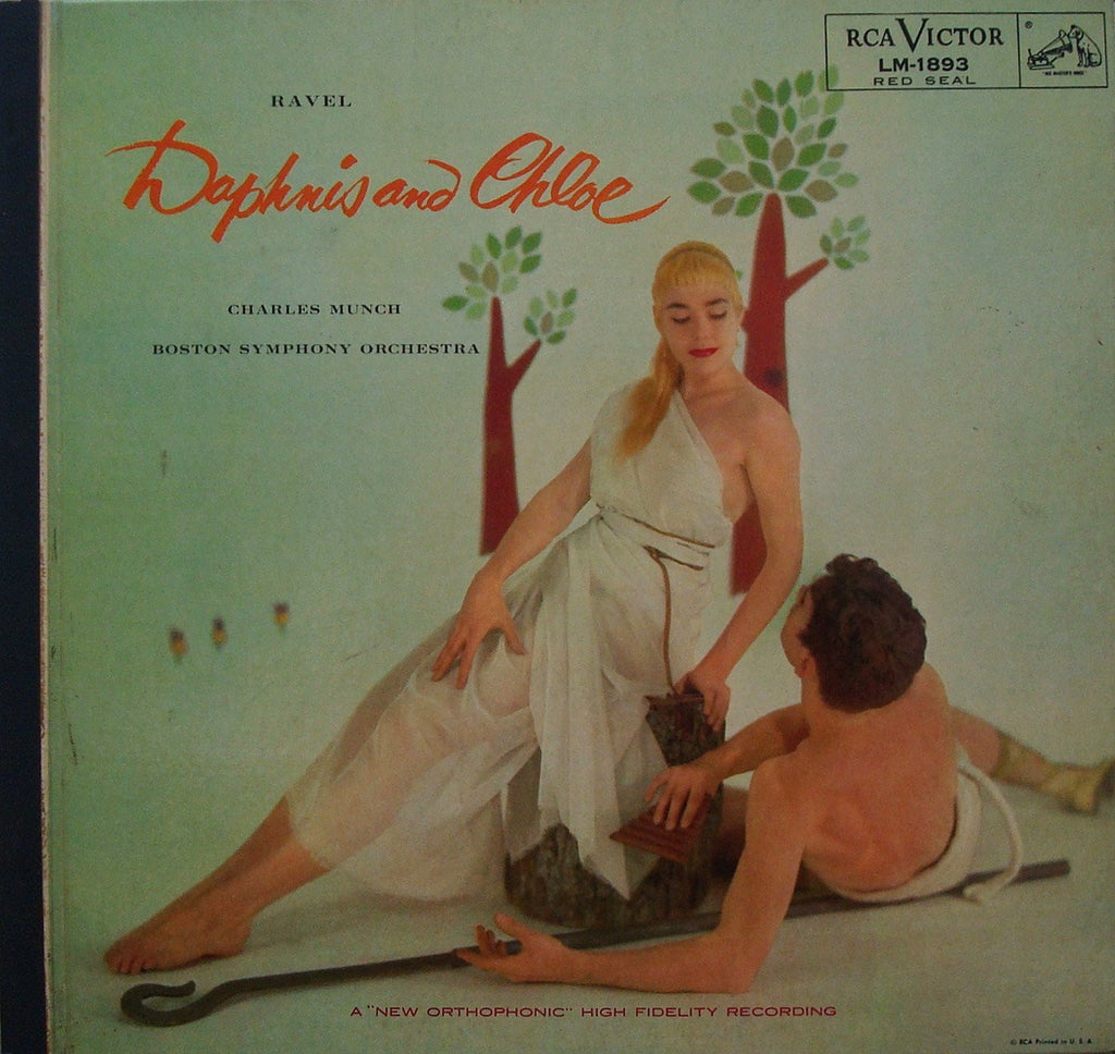 LP - Munch/BSO: Daphnis Et Chloe (rec. 1955, With Andy Warhol Drawings): RCA LM-1893