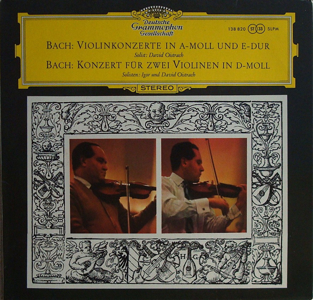 LP - David Oistrakh: Bach BWV 1041, 1042 & 1043 (with Igor Oistrakh) - DG SLPM 138 820