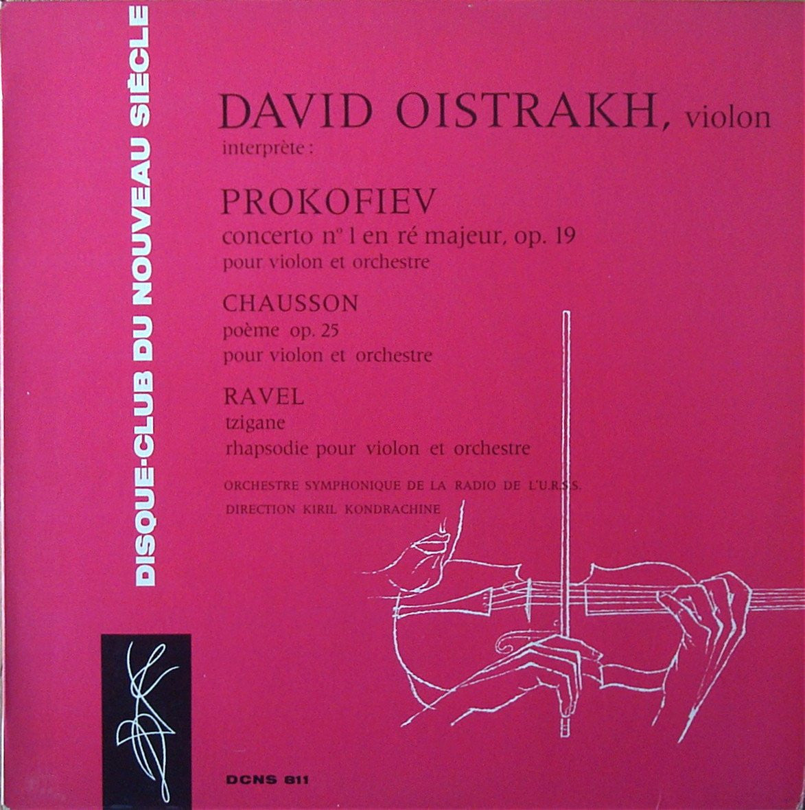 Oistrakh Prokofiev Violin Concerto No 1 Ravel Chausson Dcns 811 Casals Classical Lps Cds