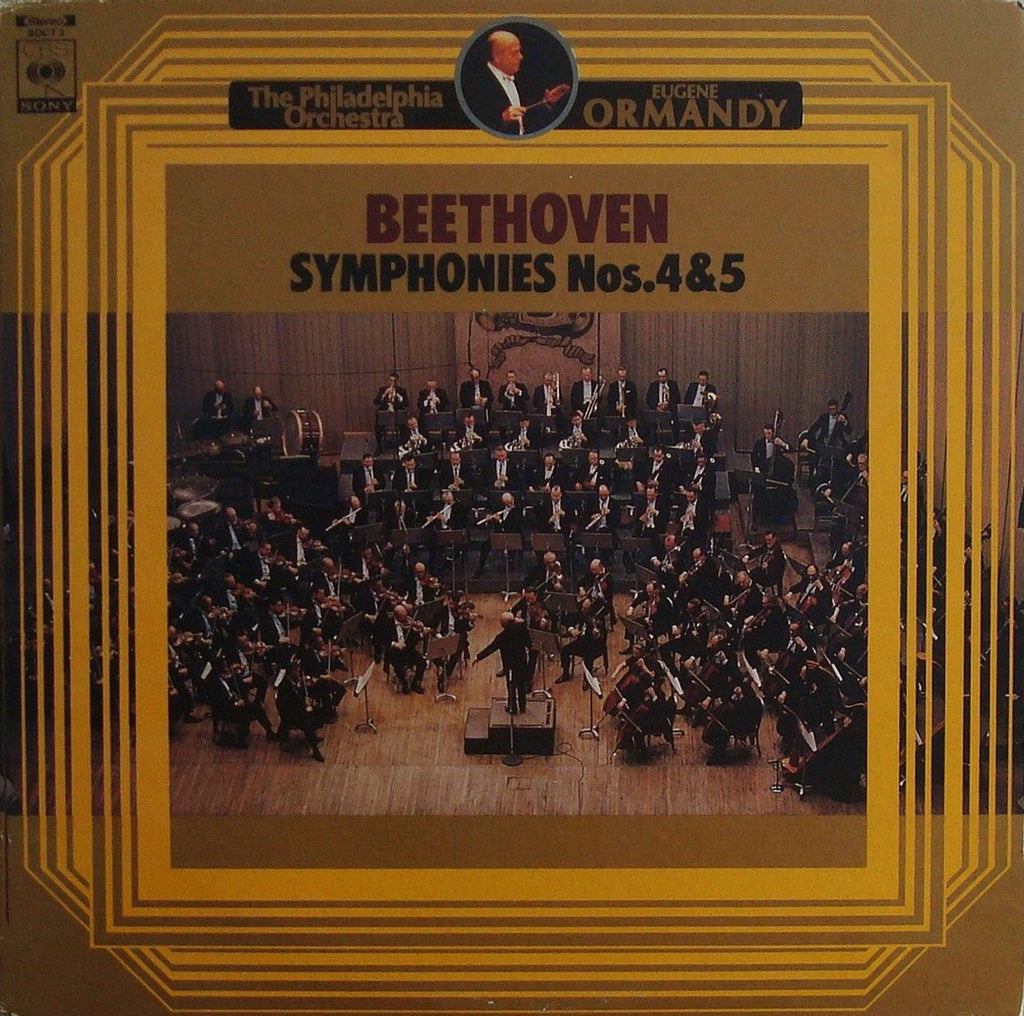 LP - Ormandy: Beethoven Symphonies Nos. 4 & 5 - CBS/Sony Japan SOCT 2